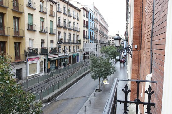 Hotel Plaza Mayor: Another view from the balcony of our room.
