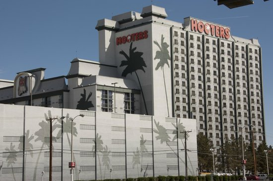 Hooters Casino Hotel: A large rather plain building