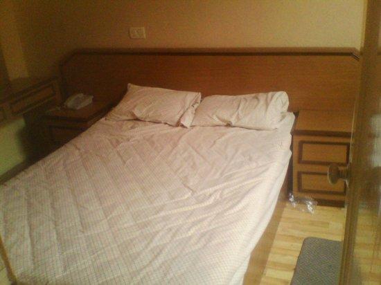 Hotel Congreso: Las camas muy incómodas y hacen bastante ruido.