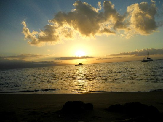 Westin Maui Resort And Spa : The beach at sunset