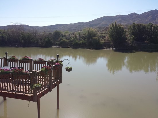 Riverbend Hot Springs: View of Rio Grande