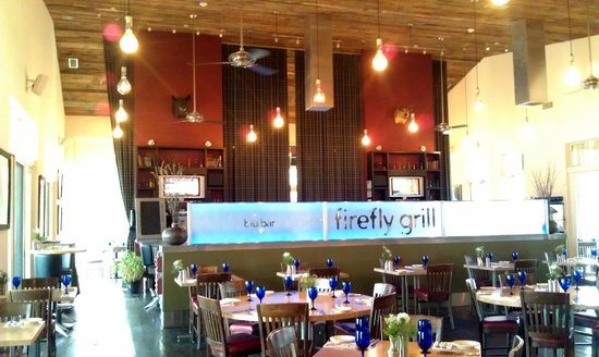 firefly grill: interior by the bar