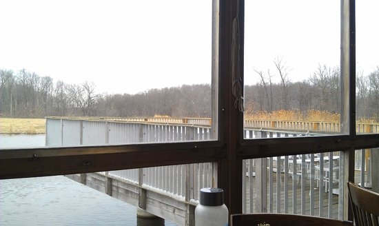 firefly grill: the view from our table on the deck