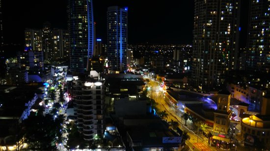 Mantra on View Hotel: Night view from room