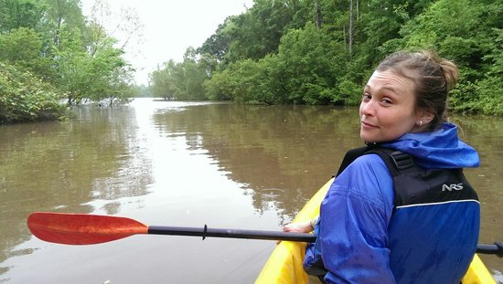 New Orleans Kayak Swamp Tours: Jaimie on the Pearl River