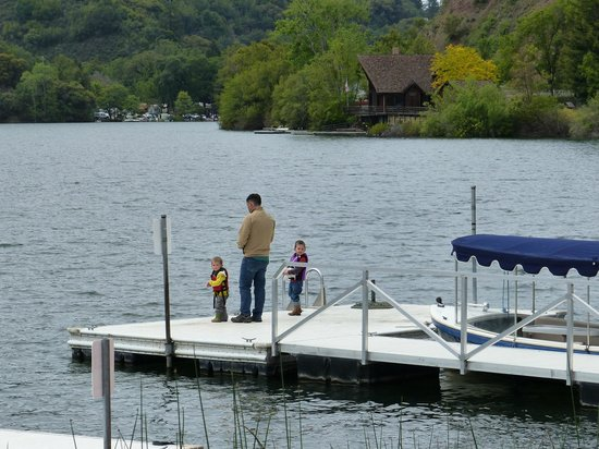 The Lodge at Blue Lakes: Fishing off the dock