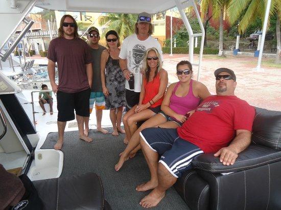 Dreams Huatulco Resort & Spa: The gang minus Grant