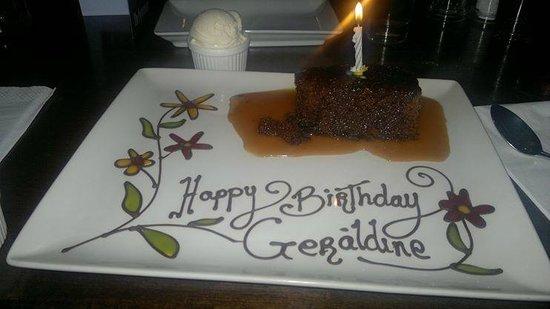 The Porterhouse Gastropub: Birthday Dessert