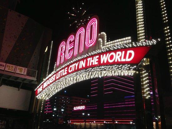Eldorado Resort Casino: Eldorado Hotel Casino Behind Reno Sign