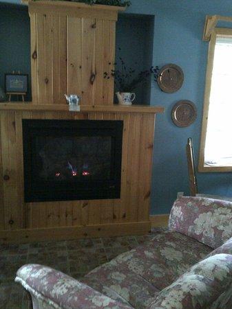 Auberge & Spa Beaux Reves: feu de foyer et sofa