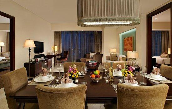 Oakwood Premier Joy - Nostalg Center Manila: Two-Bedroom Executive Dining and Living Room area