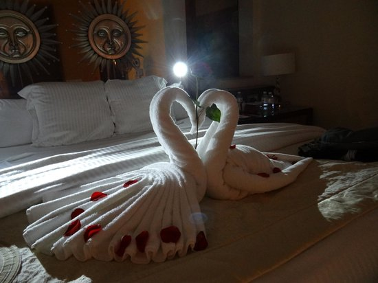 Excellence Playa Mujeres: After wedding towel art!