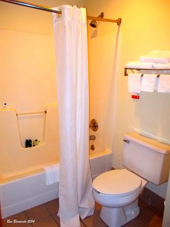 Baymont Inn & Suites Cave City: Spacious and bright bathroom.