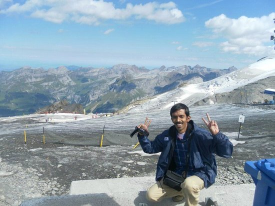 Mount Titlis: On top of Mt. Titlis