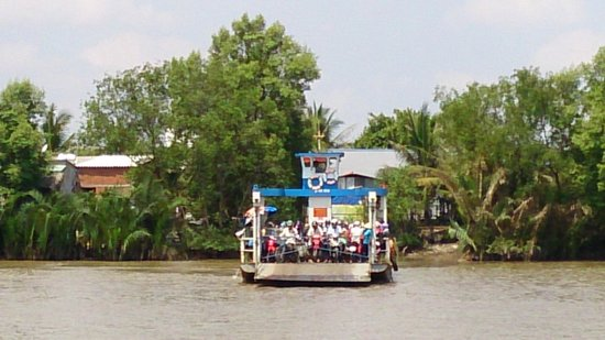 Vespa Adventures: Ride on a river ferryboat