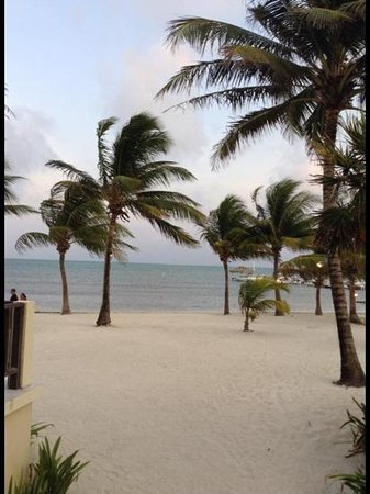 Exotic Caye Beach Resort: view from our room 7A