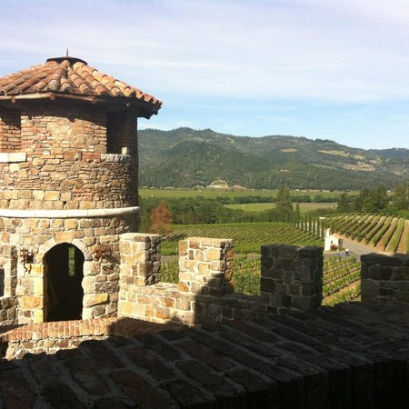View from the South Tower at Castello di Amorosa