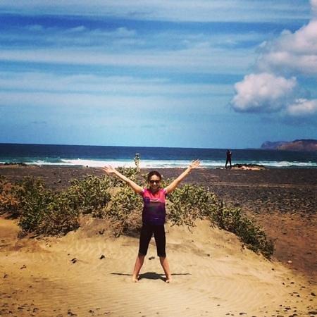 Famara Beach: famara benvenuti in spiaggia