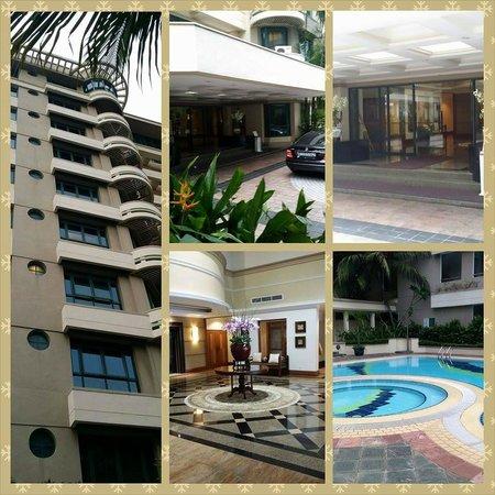 Le Grove Serviced Apartments : Apartment compound area