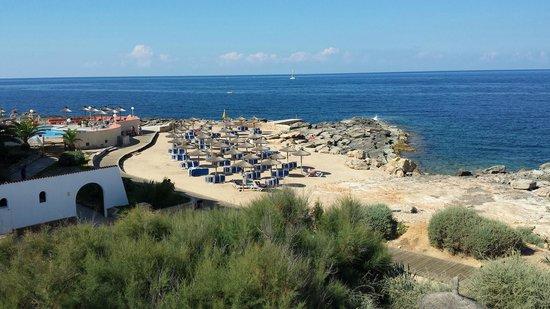 Tres Playas : Blick aus Zimmer in der Residenz