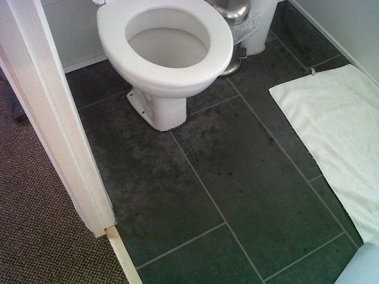 TravelRest Solent Gateway: Nice stains around the bottom of the toilet