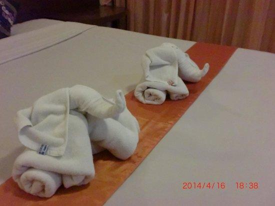 Huahin Loft Hotel: バスタオルで出来た象