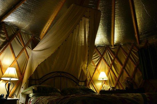 Cedar House Inn & Yurts: Yurt Bed