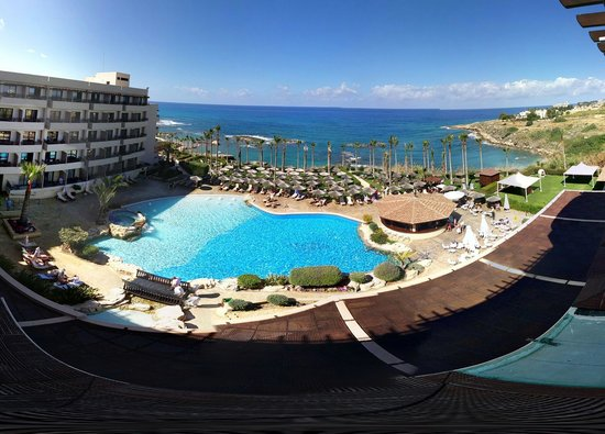 Atlantica Golden Beach Hotel: Surround shot of the view from Room 445's balcony