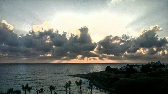 Atlantica Golden Beach Hotel : Beautiful Sunsets, viewed from Room 445