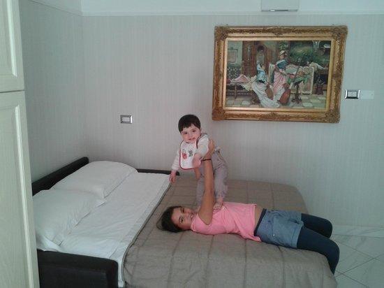 soggiorno con divano letto - Foto di Villa del Mare Exclusive ...