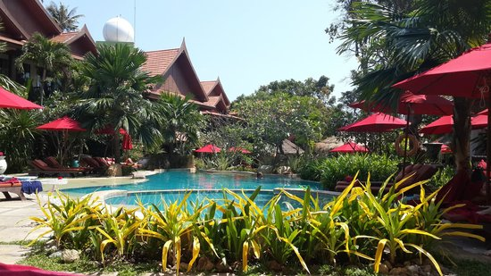 Rocky's Boutique Resort : Pool at top of resort in the gardens area. Good for the kids