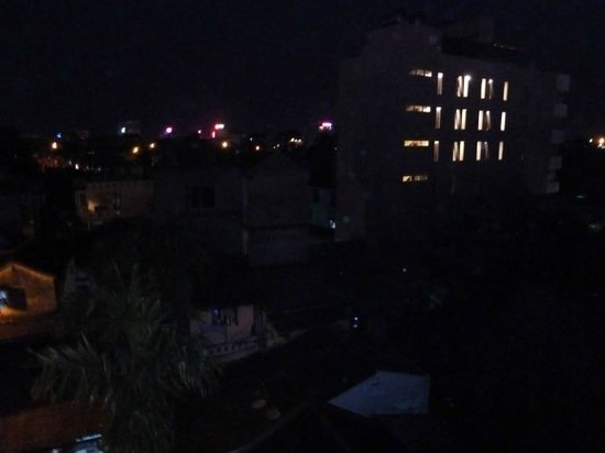 Canary Boutique Hotel: View at night from window