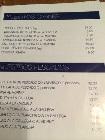 San Jaime: menu 1