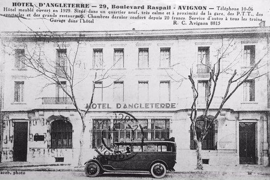 Hotel d'Angleterre : Историческая открытка отеля