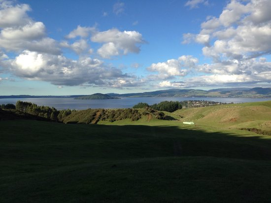 Adventure Playground: The sunset and Lake Rotorua