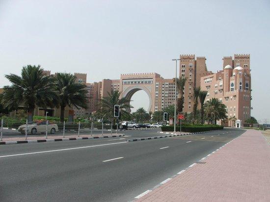 Movenpick Ibn Battuta Gate Hotel Dubai: view coming back from the Metro