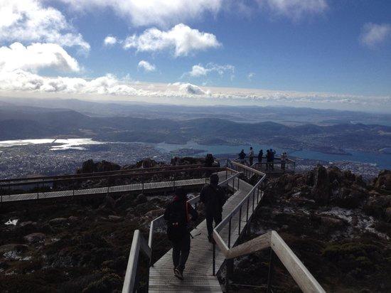 Mount Wellington: Boardwalk to the viewpoint