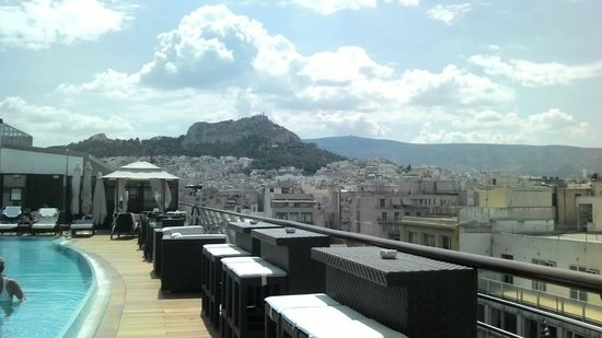 Melia Athens: View from the Sky Lounge/Rooftop pool