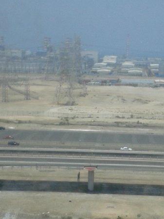 Movenpick Ibn Battuta Gate Hotel Dubai: the desalination plant etc, view from room.
