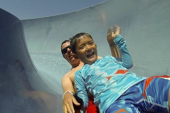 Yas Waterworld Abu Dhabi: Waterslide in kids area