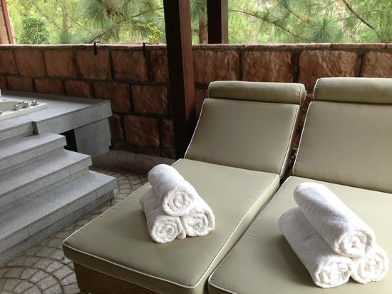 The Chateau Spa & Organic Wellness Resort: In-room jacuzzi