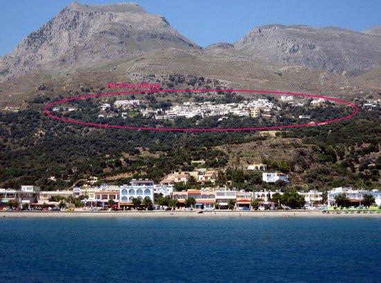 Mirthios Village as seen from Plakias beach