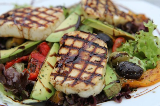 Cafe 53: Grilled mediterranean vegetable and haloumi Salad