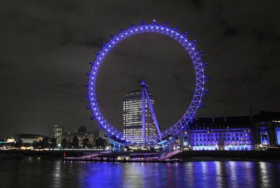 London Showboat: London Eye. London Showboat: Canary Wharf By Night