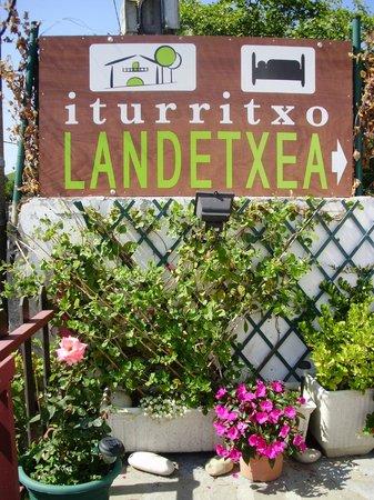 Iturritxo Landetxea : Cartel identificativo
