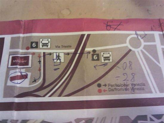 Mercure Venezia Marghera hotel: MAPA: como pegar o onibus para Veneza