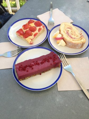 Chesters By The River: selection of cakes at Chesters
