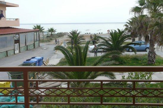 Aristea Hotel Rethymnon : vue du balcon