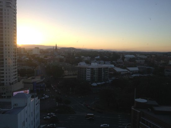 Meriton Serviced Apartments Brisbane on Adelaide Street: sunset from the 14th floor