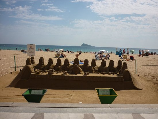 Playa de Levante : Sand Sculpture - Levante Beach